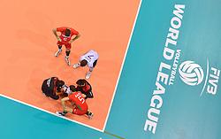 20150619 NED: World League Nederland - Portugal, Groningen<br /> De Nederlandse volleyballers hebben in de World League ook hun eerste duel met Portugal met 3-0 gewonnen / Blessure voor Marco Ferreira