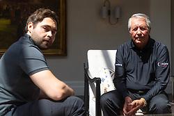 Golfing legend Gary Player, 84, with The Sun Sports journalist Sam Morgan, left at Wentworth Golf Club in Surrey. Wentworth, Surrey, July 05 2019.