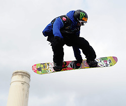 29.10.2011, Battersea Power Station, London GBR, FIS Snowboard Worldcup, Relentless Freeze Festival, im Bild FIS Heat 2, Kevin BACKSTROM of SWE // during FIS Snowboard Worldcup at Relentless Freeze Festival in London, United Kingdom on 29/10/2011. EXPA Pictures © 2011, PhotoCredit: EXPA/ TNT Sports/ Nick Tapsell +++++ ATTENTION - OUT OF ENGLAND/GBR +++++