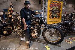 "Hammer Cycle's ""Hammer"" at the Annual Mooneyes Yokohama Hot Rod and Custom Show. Japan. Sunday, December 7, 2014. Photograph ©2014 Michael Lichter."