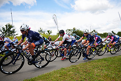 Sarah Rijkes (AUT) and Katrine Aalerud (NOR) at Stage 2 of 2019 OVO Women's Tour, a 62.5 km road race starting and finishing in the Kent Cyclopark in Gravesend, United Kingdom on June 11, 2019. Photo by Sean Robinson/velofocus.com