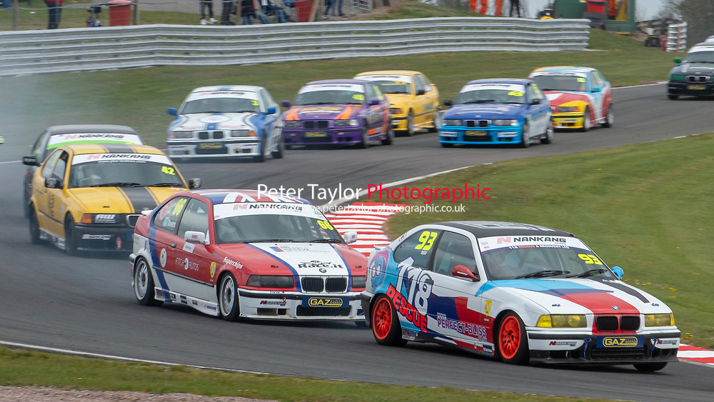 #93 David MAY BMW E36 Compact 318Ti  during Nankang Tyre BMW Compact Cup  as part of the BRSCC Fun Cup Race Day at Oulton Park, Little Budworth, Cheshire, United Kingdom. April 13 2019. World Copyright Peter Taylor/PSP. Copy of publication required for printed pictures.