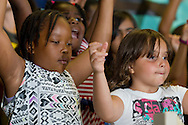 """Middletown, New York -  Children from the Middletown YMCA's Camp Funshine perform in """"The Show"""", a musical production, on Aug. 7, 2014."""