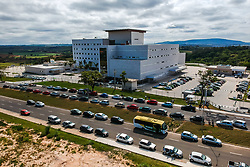"""October 5, 2018 - Sorocaba, Brazil - SOROCABA, SP - 05.10.2018: NOVO HOSPITAL REGIONAL DE SOROCABA - Aerial photo of the new Regional Hospital of Sorocaba """" Jatenetene&quotP, inaugnaugurated at the end of March of 2018, in km 106 of Rodovia Raposo Tavares and had an itment investvestment of R $ 270 million. The hospital, with 260 beds, offers services such as neurosurgery, adult and child cardiovascular surgery and orthopedics, as well as emergency and trauma support. The Unit, the first of the State built through the PPP (Public-Private Partnership) model. (Credit Image: © Cadu Rolim/Fotoarena via ZUMA Press)"""