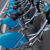 Europe, Ireland, Dublin. Public Bicycles in Dublin.