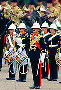 Royal Marine Band play during a ceremonial parade, United Kingdom