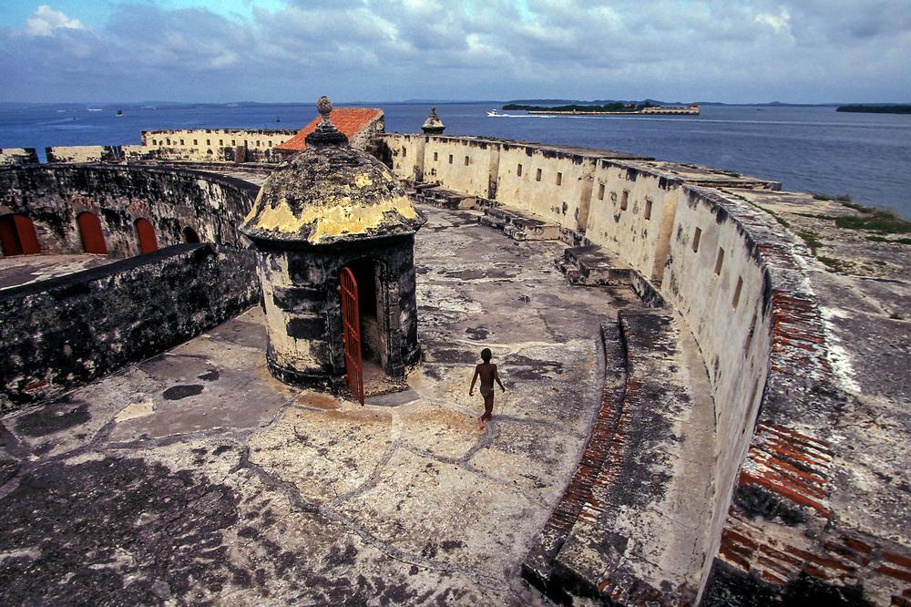 The defensive Fort of San Fernando, Bocachica, Cartagena