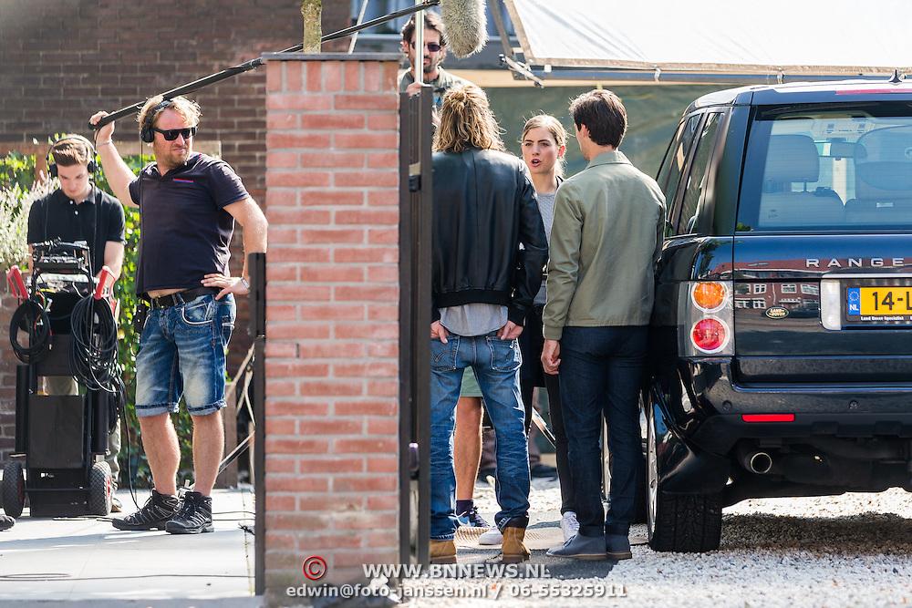 NLD/Amsterdam/20160908 - Opname nieuwe misdaadserie Odds, Hannah Hoekstra