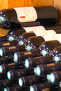 Cuvee Marielle et Frederique. Domaine La Tour Boisee. In Laure-Minervois. Minervois. Languedoc. Bottle cellar. France. Europe. Bottle.
