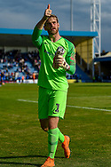 Coventry City goalkeeper Lee Burge (1) gives a thumbs up to the fans after the EFL Sky Bet League 1 match between Gillingham and Coventry City at the MEMS Priestfield Stadium, Gillingham, England on 25 August 2018.