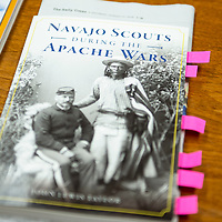 """""""Navajo Scouts During the Apache Wars"""" by local Gallup author John Taylor. Taylor will be at the Octavia Fellin Public Library in Gallup Tuesday, Sept. 10 for a book signing."""
