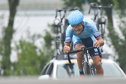 September 15, 2017 - Chenghu City, United States - Viesturs Luksevics from Rietumu Banka-Riga team during the fourth stage of the 2017 Tour of China 1, the 3.3 km Chenghu Jintang individual time trial. .On Friday, 15 September 2017, in Jintang County, Chenghu City,  Sichuan Province, China. (Credit Image: © Artur Widak/NurPhoto via ZUMA Press)