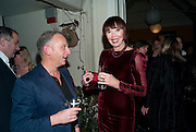 NEIL MENDOZA; CAROL RYAN , Party for Perfect Lives by Polly Sampson. The 20th Century Theatre. Westbourne Gro. London W11. 2 November 2010. -DO NOT ARCHIVE-© Copyright Photograph by Dafydd Jones. 248 Clapham Rd. London SW9 0PZ. Tel 0207 820 0771. www.dafjones.com.