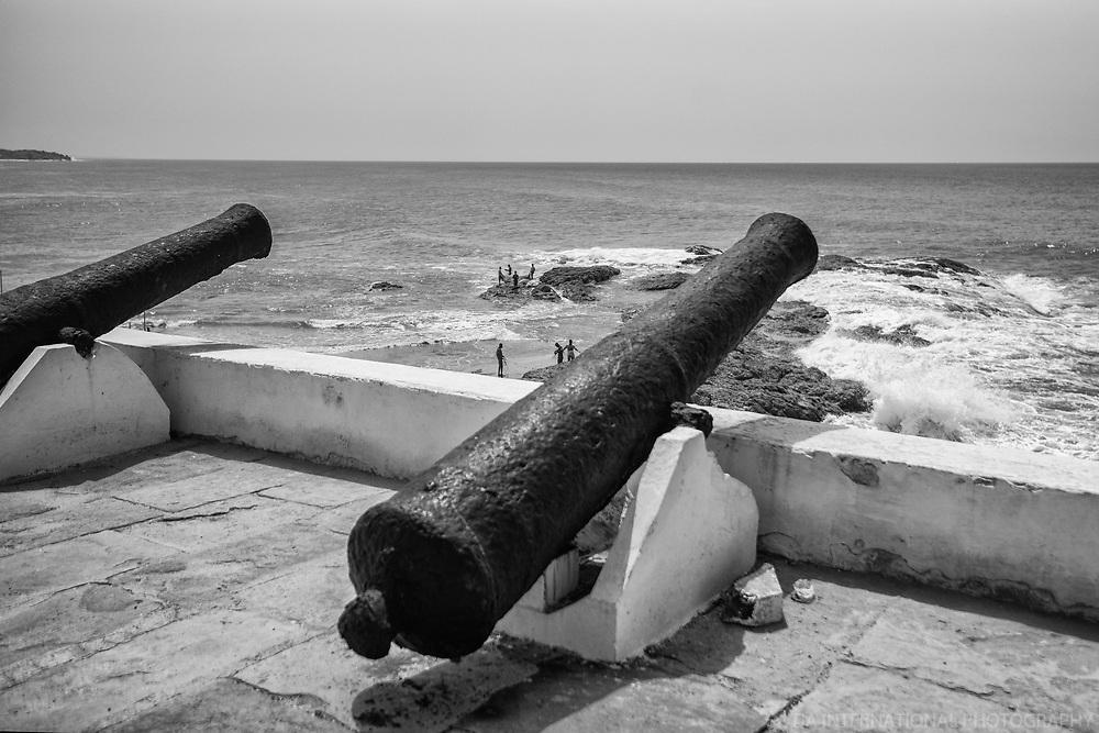 Cannons & Rocky Shoreline, Cape Coast Castle