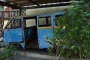 Bob Marleys tour bus in Trenchtown
