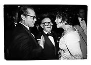 Jack Nicholson, Swifty Lazar and Elizabeth Taylor at Swifty's last Oscar Night  Party. Spago's. Los Angeles. March 1993. Film. 93237/8<br /> <br /> © Copyright Photograph by Dafydd Jones<br /> 66 Stockwell Park Rd. London SW9 0DA<br /> Tel 0171 733 0108