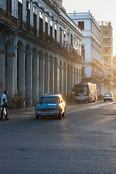 Buildings and street scene, Havana, Cuba