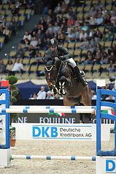Rogan Deane, (IRL), Falco van Spieveld<br /> DKB-Riders Tour<br /> Grand Prix Kreditbank Jumping München 2015<br /> © Hippo Foto - Stefan Lafrentz
