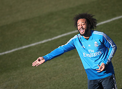 February 8, 2019 - Madrid, Spain - Real Madrid's Brazilian defender Marcelo attends a training session at the club's training ground in the outskirts of Madrid on February 8, 2019 Before The Liga match against Atletico Madrid. (Credit Image: © Raddad Jebarah/NurPhoto via ZUMA Press)