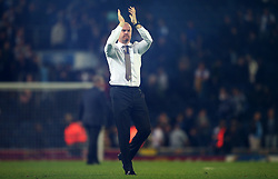 Burnley manager Sean Dyche thanks the fans at full time - Mandatory by-line: Matt McNulty/JMP - 23/08/2017 - FOOTBALL - Ewood Park - Blackburn, England - Blackburn Rovers v Burnley - Carabao Cup - Second Round