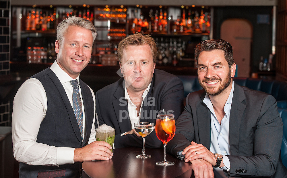 Picture by Daniel Hambury/Stella Pictures Ltd +44 7813 022858<br /> 26/06/2013<br /> The three directors of BeatOne chain of cocktail bars, L-R<br /> Leigh Miller, Rhys Oldfield and Steve Locke.