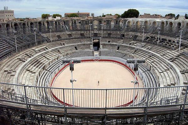 Frankrijk, Arles, 24-8-2006..De arena van het amphitheater.Romeinse bouwkunst. Historisch stadscentrum...Foto: Flip Franssen/Hollandse Hoogte
