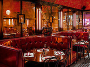 The dining room of Jenny Yip's Miss Yip Chnese Café in South Beach was modeled on the decor of classic Chinese cafeterias in Hong Kong