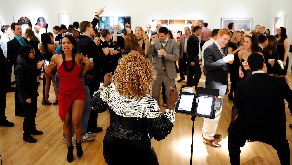 Nekita Waller performs on New Years Eve at the New Britain Museum of American Art
