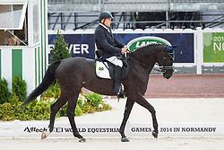 Marcos Fernandes Alves, (BRA), Win Du Vieux Logis - Team Competition Grade Ib Para Dressage - Alltech FEI World Equestrian Games™ 2014 - Normandy, France.<br /> © Hippo Foto Team - Jon Stroud <br /> 25/06/14
