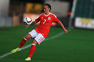 Natasha Harding of Wales in action. Friendly International Womens football, Wales Women v Republic of Ireland Women at Rodney Parade in Newport, South Wales on Friday 19th August 2016.<br /> pic by Andrew Orchard, Andrew Orchard sports photography.