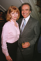 Actress JANE ASHER and her husband GERALD SCARFE, at a party in London on 28th April 1999.MRN 20