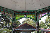 Stained Glass at Kraton - Sultan Hamengkubuwono's palace, better known as Yogyakarta Kraton.  Yogyakarta Palace is the center of Javanese culture - a kind of living museum and not just a place for the sultan and his family to live. The palace also is the focus of cultural development in Java. Visitors can see how Javanese culture continues to thrive and be preserved. Yogyakarta Palace was built by Prince Mangkubumi in 1755 and most areas are open to the public.