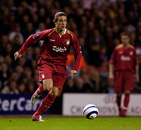 Photo: Jed Wee.<br />Liverpool v Anderlecht. UEFA Champions League.<br />01/11/2005.<br /><br />Liverpool's Harry Kewell continued his rehabilitation after a lengthy lay off.