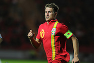Aaron Ramsey. Friendly international football, Wales v Bosnia- Herzegovina  at Parc y Scarlets in Llanelli ,  South Wales on Wed 15th August 2012. pic by Andrew Orchard, Andrew Orchard sports photography,