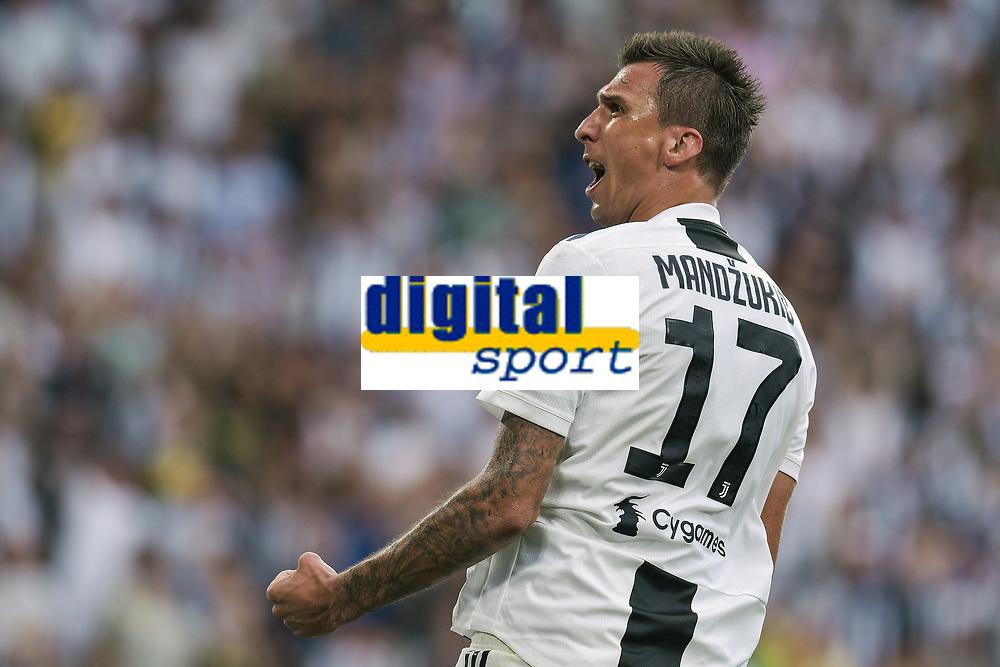 Mario Mandzukic Juventus celebrtes scoring Esultanza gol <br /> Torino 25-08-2018 Allianz Stadium Football Calcio Serie A 2018/2019 Juventus - Lazio Foto OnePlusNine / Insidefoto