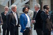 JEREMY PAXMAN; BEN OKRI, Celebration of the Arts. Royal Academy. Piccadilly. London. 23 May 2012.