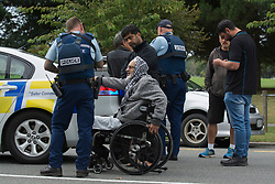 March 15, 2019 - Christchurch, Canterbury, New Zealand - Witness's and Police at the South end of Deans Avenue after a shooting incident resulting multiple fatalities and injuries at the Masjid Al Noor Mosque in Deans Avenue , Christchurch, New Zealand. At least 49 people were killed and 20 seriously injured in mass shootings at two mosques in the New Zealand city of Christchurch. 48 people, including young children with gunshot wounds, were taken to hospital. Three people were arrested in connection with the shootings. (Credit Image: © David Alexander/SNPA via ZUMA Wire)