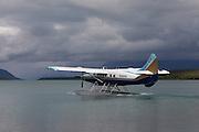 A float plane shuttles visitors to Katmai National park near King Salmon, Alaska.