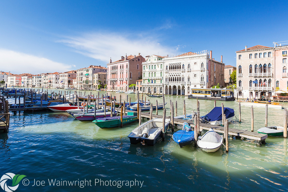 The Grand Canal, Venice, photographed in springtime