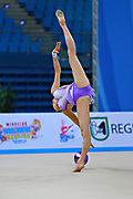 Veronica Bertolini during qualifying at ball in Pesaro World Cup 10 April, 2015.<br /> Veronica was born in Sondrio October 19, 1995, she is an individual gymnast of the Italian team.