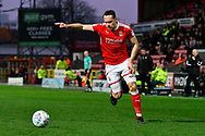 Chris Hussey (3) of Swindon Town during the EFL Sky Bet League 2 match between Swindon Town and Yeovil Town at the County Ground, Swindon, England on 10 April 2018. Picture by Graham Hunt.