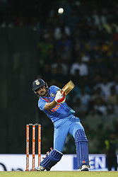 September 6, 2017 - Colombo, Sri Lanka - Indian cricketer Manish Pandey plays a shot during the 1st and only T-20 cricket match between Sri Lanka and India at R Premadasa International cricket stadium in Colombo, Sri Lanka on Wednesday 6 September 2017. (Credit Image: © Tharaka Basnayaka/NurPhoto via ZUMA Press)