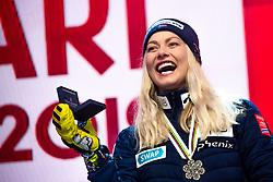 February 8, 2019 - Are, Sweden - Ragnhild Mowinckel of Norway celebrates at the medal ceremony for the women's combination during the FIS Alpine World Ski Championships. (Credit Image: © Daniel Stiller/Bildbyran via ZUMA Press)