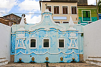 ancient foutain in the historic center of the city of sao luis of maranhao in brazil