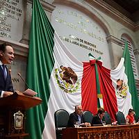 Toluca, México.- (Abril 06, 2017).- Raymundo Guzman Corroviñas, Diputado Local por el PAN, durante la sesión ordinaria de la cámara de diputados en el Estado de México. Agencia MVT / Arturo Hernández.