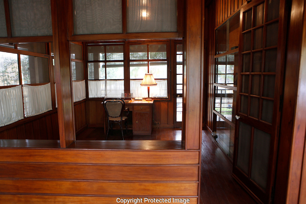 Ho Chi Minh's office in Ho Chi Minh's house in Hanoi.<br /> <br />  photo by Dennis Brack