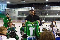 at Anze Kopitar visits HK Olimpija practice, on August 20, 2014 in Hala Tivoli, Ljubljana, Slovenia. Photo by Matic Klansek Velej / Sportida.com