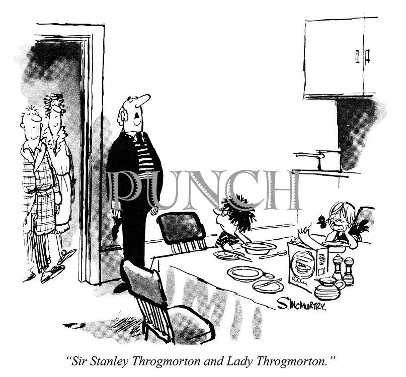 """Sir Stanley Throgmorton and Lady Throgmorton."""