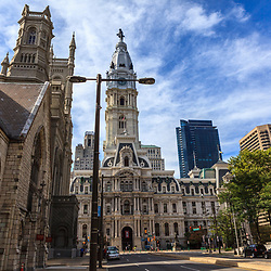 Philadelphia, PA, USA - August 13, 2011: The town on City Hall, which serves as the center of the Municipal government.