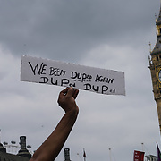 BBC Broadcasting House, London, UK, 1st July 2017. Thousands protestors rally in Parliament square to protest Not one day more #ToriesOut a National Demonstration demand unconfident Tories out attack disable, Austerity, NHS School and demand Justice for Grenfell.